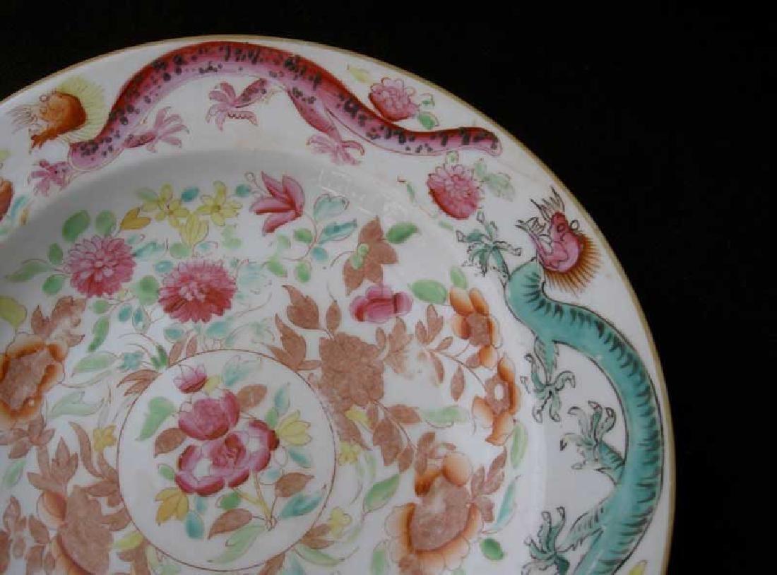 English dragon plate, Georgian - 2