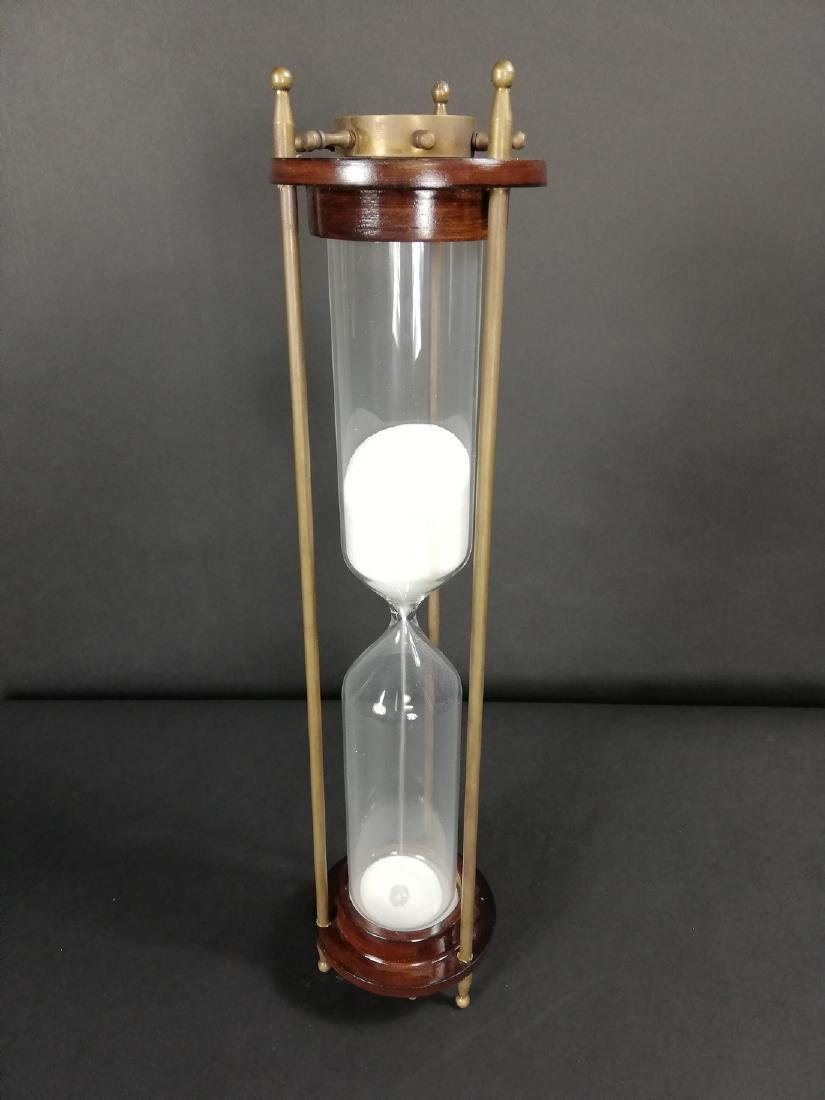 Vintage hourglass with compass - 10