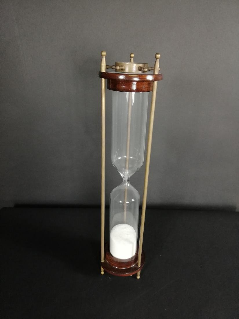 Vintage hourglass with compass - 4