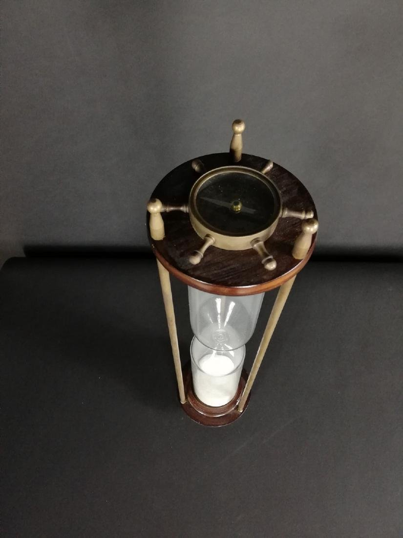 Vintage hourglass with compass - 5