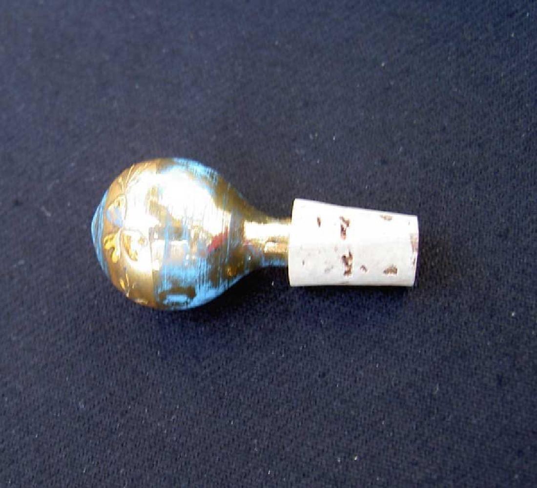 Blue opaline scent bottle by Moser - 4