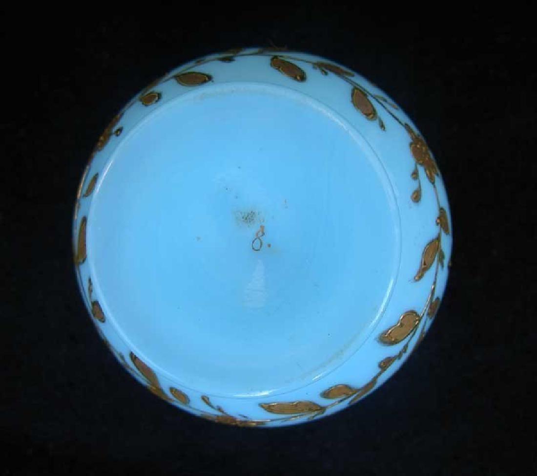 Blue opaline scent bottle by Moser - 5