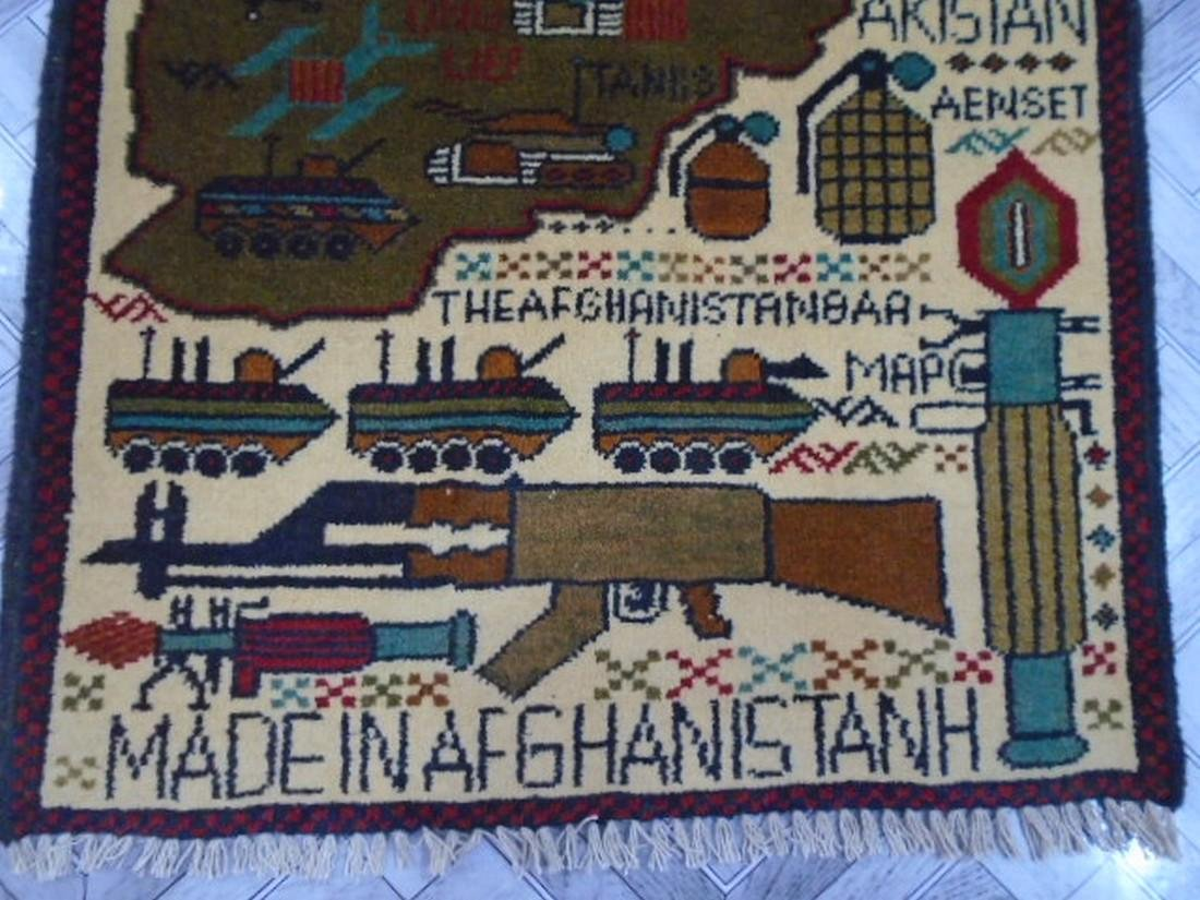 Two Afghan War Rug 2.5 x 1.11 ft /0.77 x .61 ft - 7