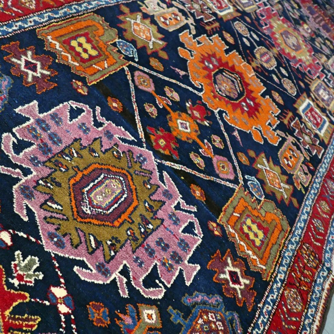 Colorful Unique Design Kazak Runner Rug 11.1x4.6 - 4