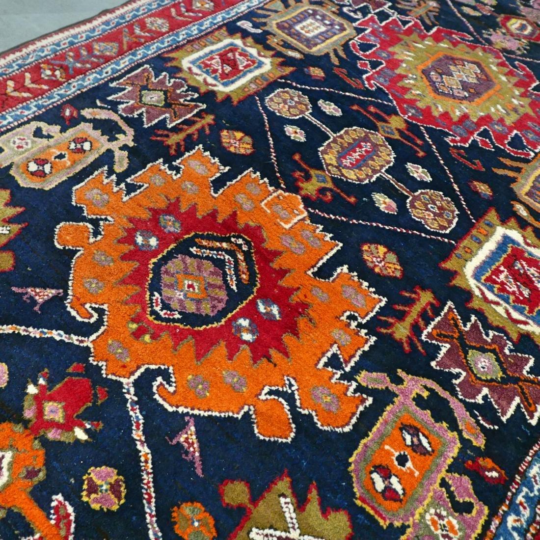 Colorful Unique Design Kazak Runner Rug 11.1x4.6 - 6