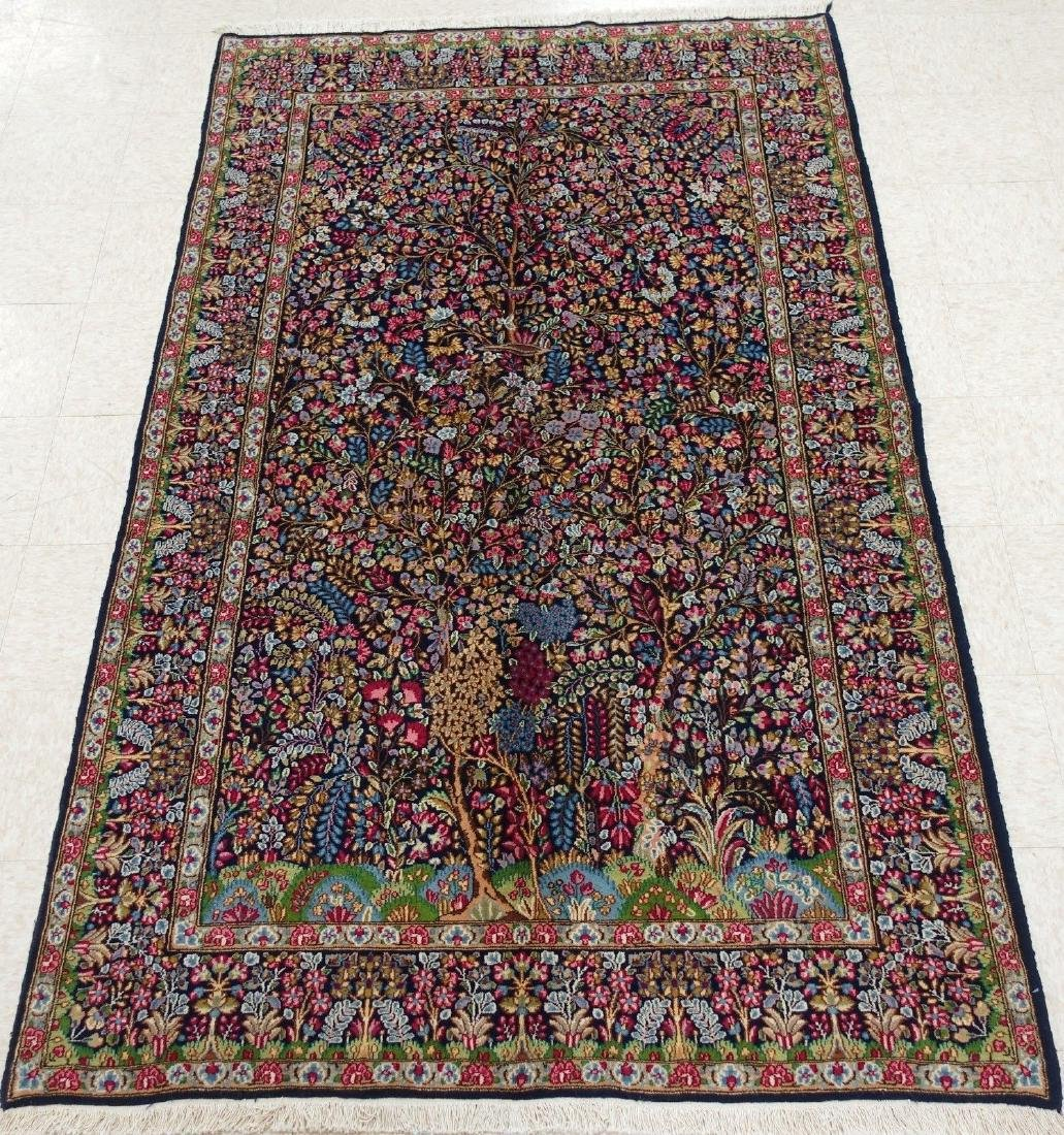 PERSIAN KERMANN Hand Knotted Wool TREE OF LIFE NEW