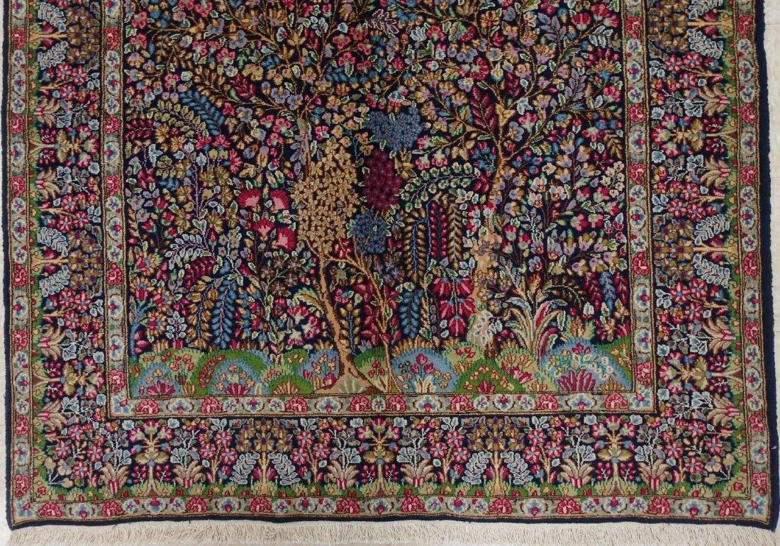 PERSIAN KERMANN Hand Knotted Wool TREE OF LIFE NEW - 2