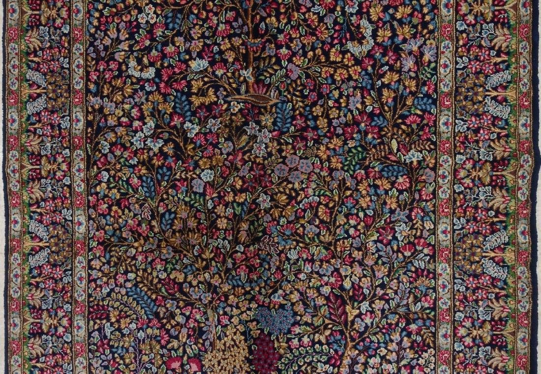 PERSIAN KERMANN Hand Knotted Wool TREE OF LIFE NEW - 3