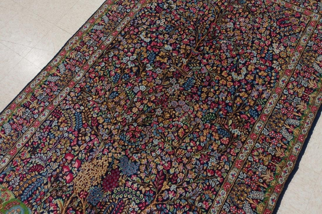 PERSIAN KERMANN Hand Knotted Wool TREE OF LIFE NEW - 8