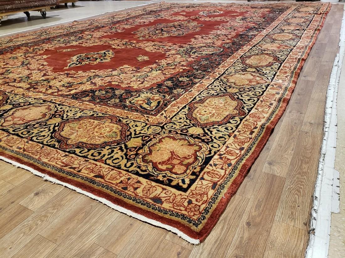 11 x 17 Fine Antique Persian Sarouk Rug - 3
