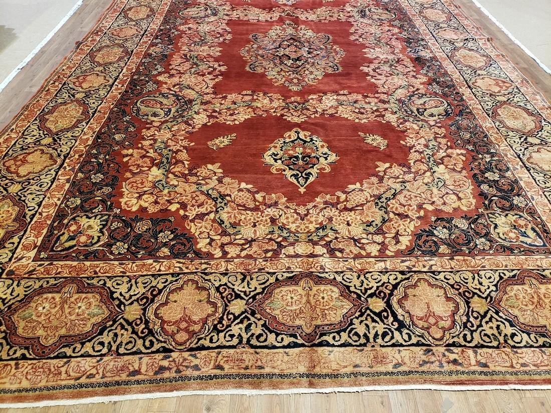 11 x 17 Fine Antique Persian Sarouk Rug - 7