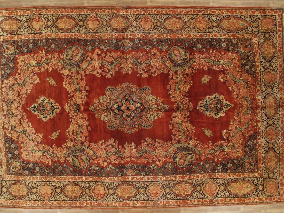 11 x 17 Fine Antique Persian Sarouk Rug - 8