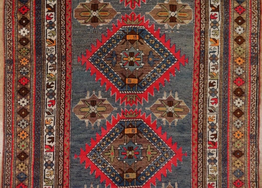 SHIRVAN Hand Knotted Wool BLUE Vintage Anatolian - 3