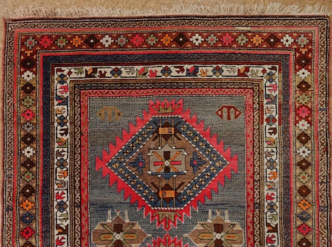 SHIRVAN Hand Knotted Wool BLUE Vintage Anatolian - 4