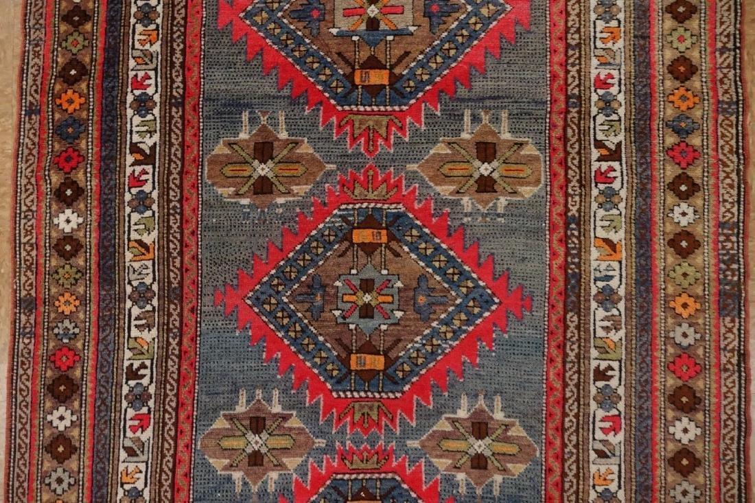 SHIRVAN Hand Knotted Wool BLUE Vintage Anatolian - 6