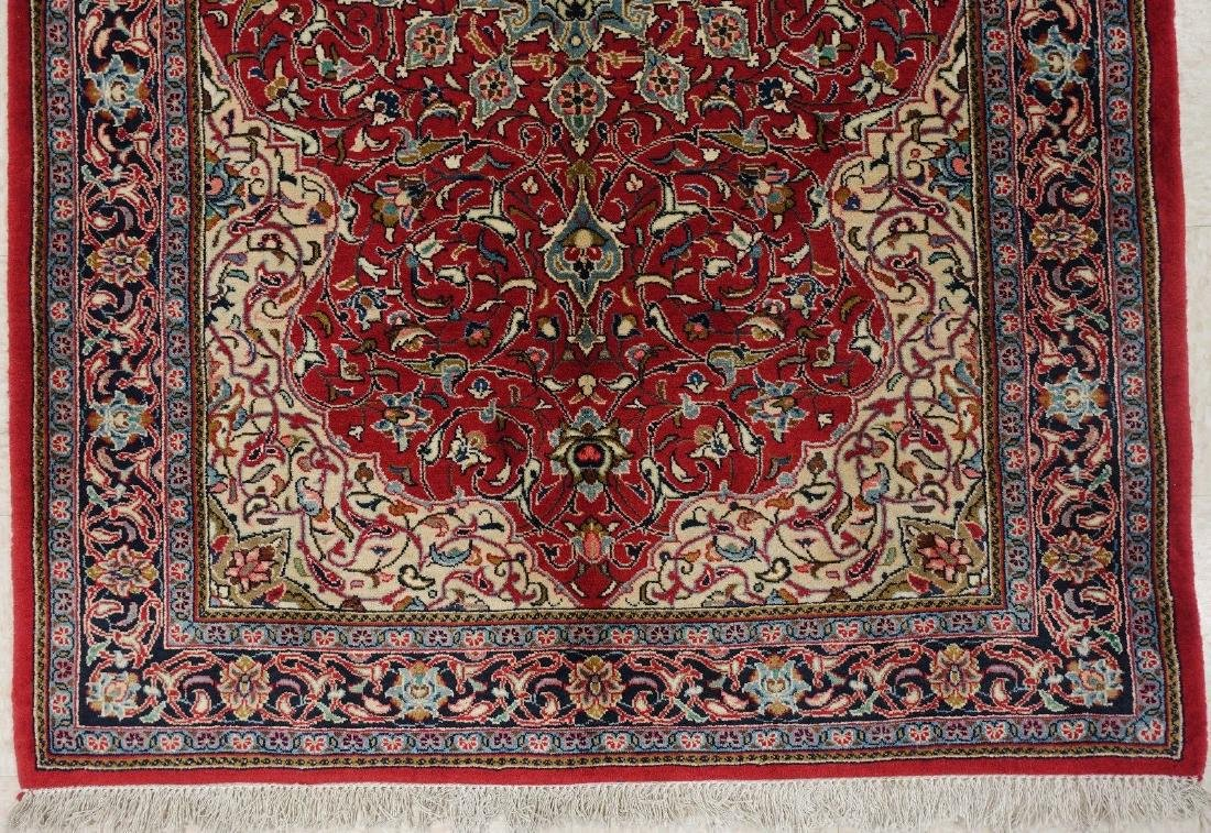 PERSIAN SAROUK Hand Knotted Wool BRICK RED NAVY Fine - 2