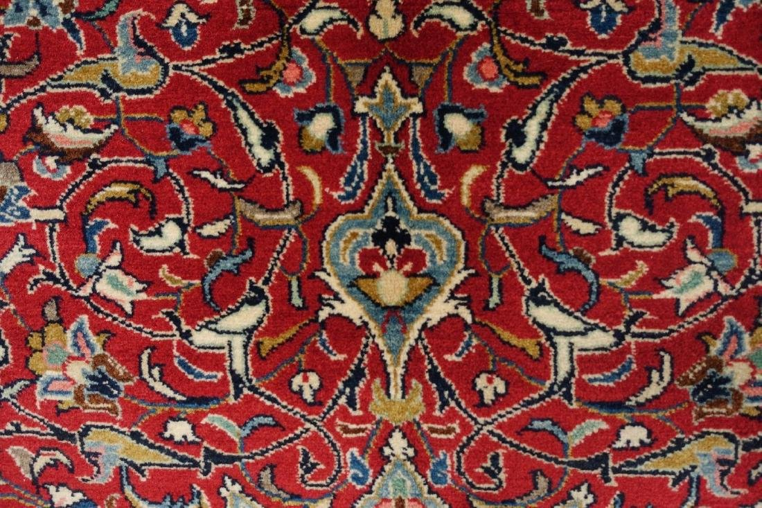 PERSIAN SAROUK Hand Knotted Wool BRICK RED NAVY Fine - 5