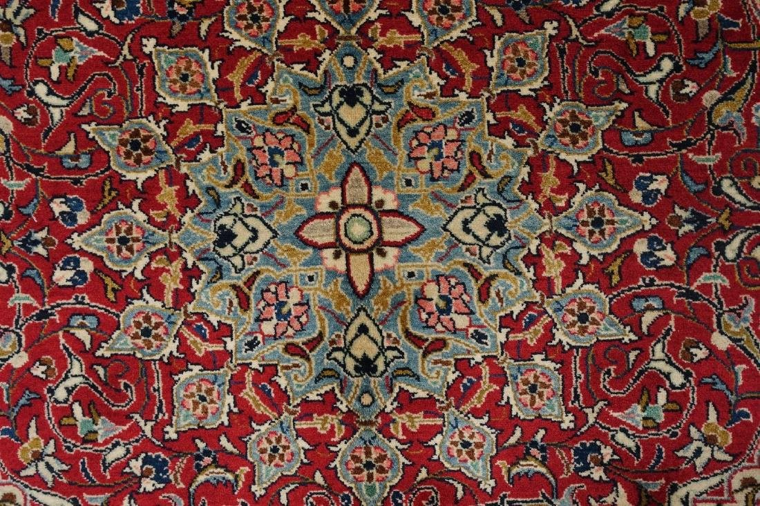 PERSIAN SAROUK Hand Knotted Wool BRICK RED NAVY Fine - 6