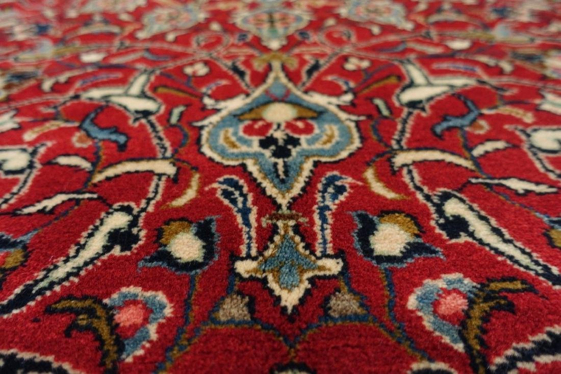 PERSIAN SAROUK Hand Knotted Wool BRICK RED NAVY Fine - 8