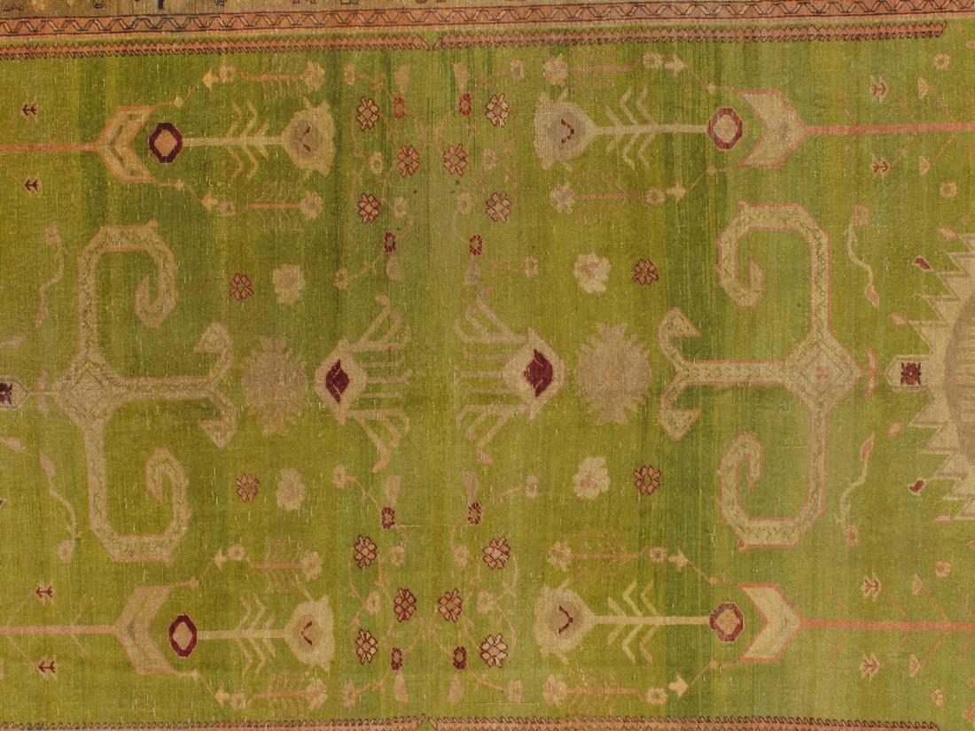 10 x 13 Fine Antique Special Oushak Rug - 2