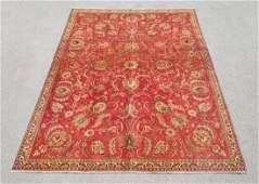 Semi Antique All Over Floral Persian Tabriz Rug