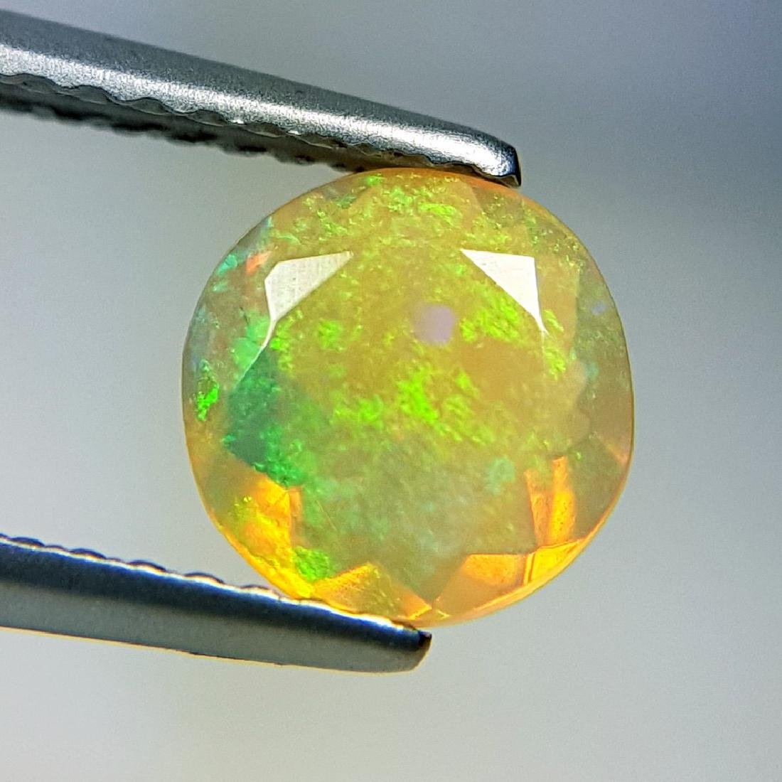 Lovely Fire Round Cut Natural Opal  - 0.83 ct