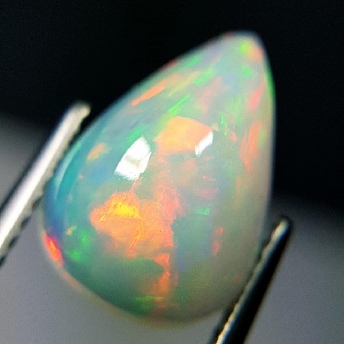 Awesome Fire Pear Cabochon Natural Opal  - 2.44 ct - 4