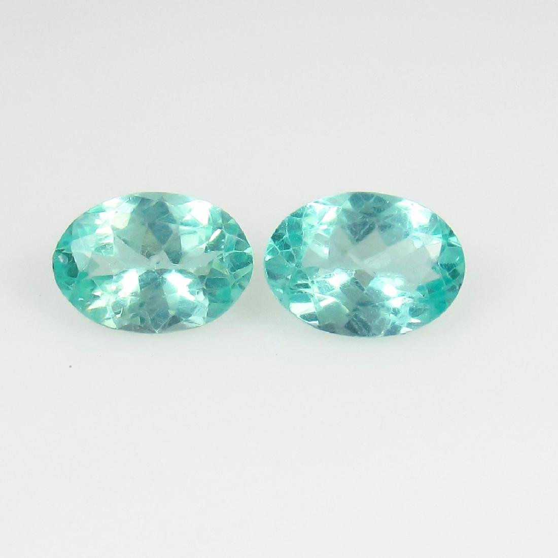 1.37 Ctw Natural Green Apatite 7X5 mm Matching Oval
