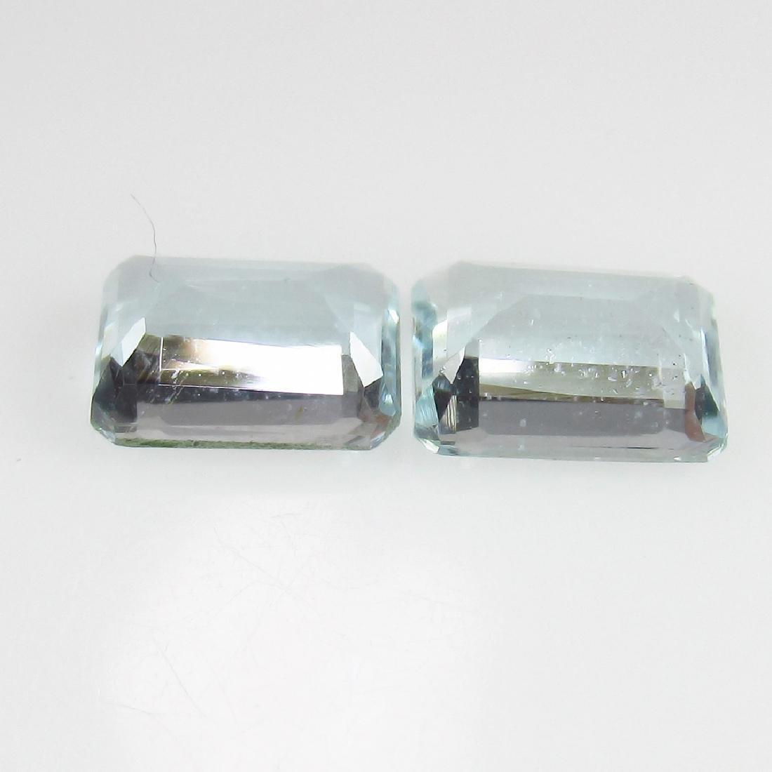 1.72 Ct Ctw Natural Aquamarine 7X5 mm Octagon Matching - 2