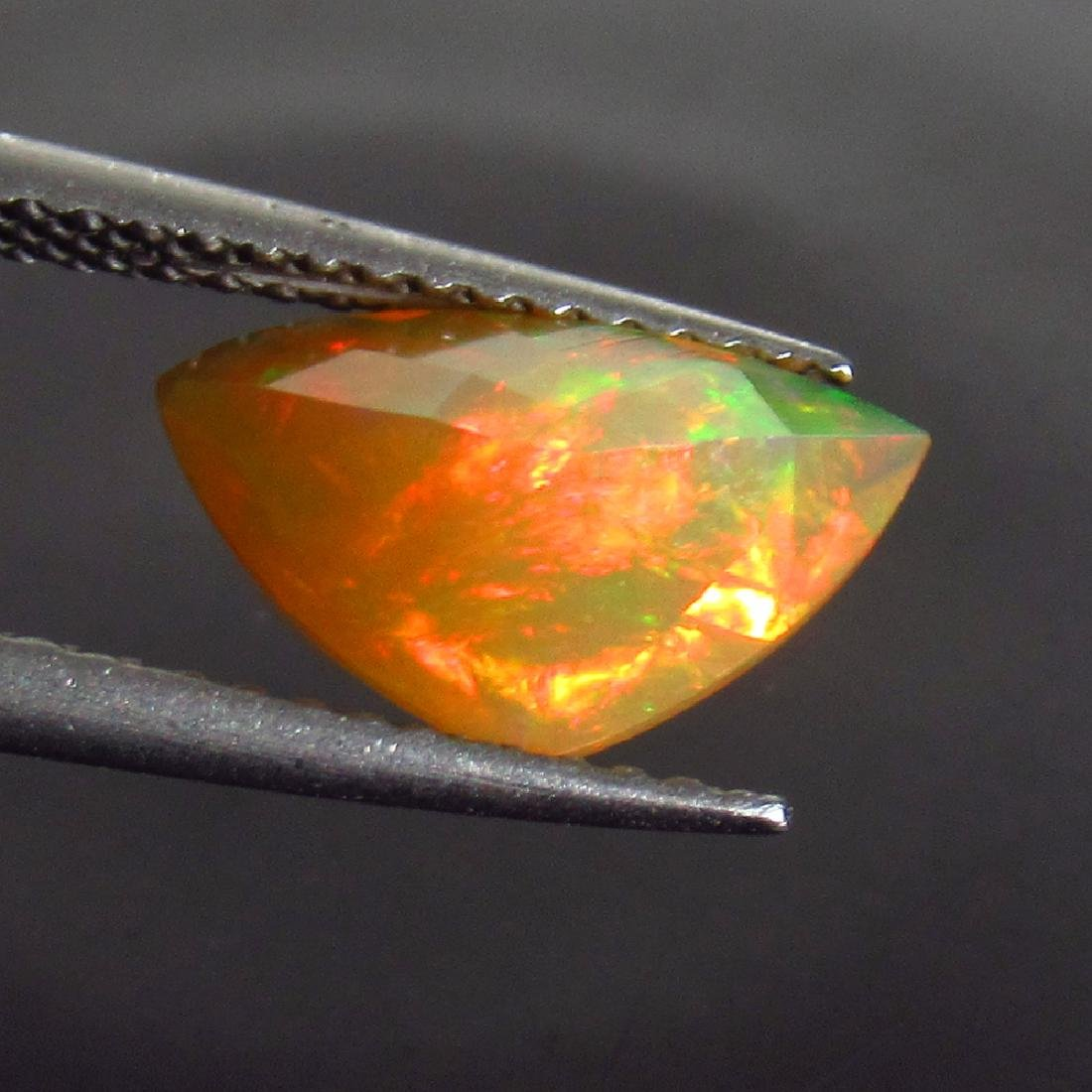 1.11 Ctw Natural Ethiopian Multi-Color Fire Faceted - 2