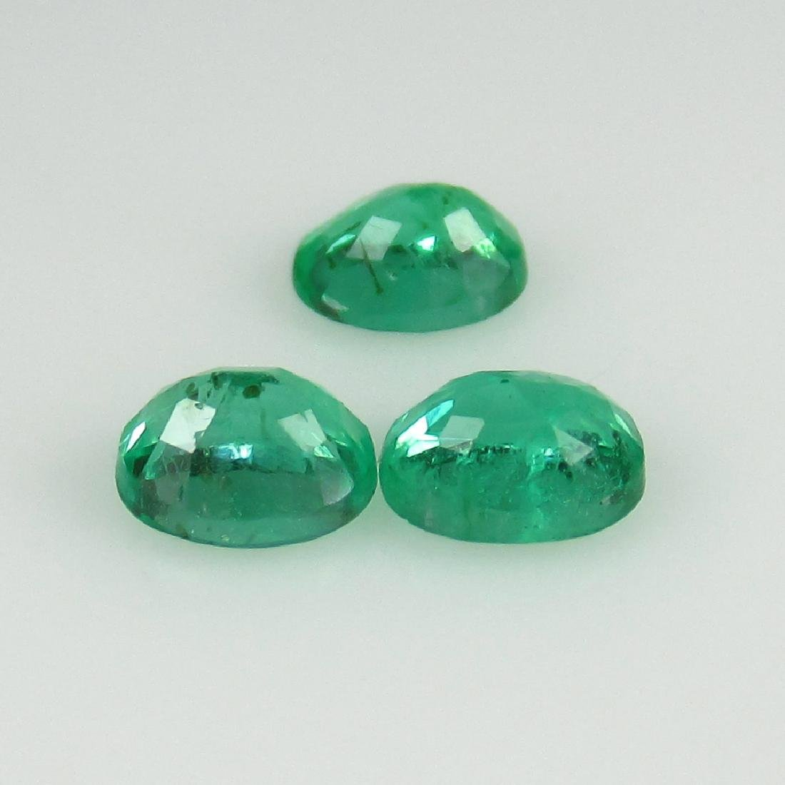 0.72 Ctw Natural 3 Loose Zambian Emerald 4.5X3.5 mm - 2