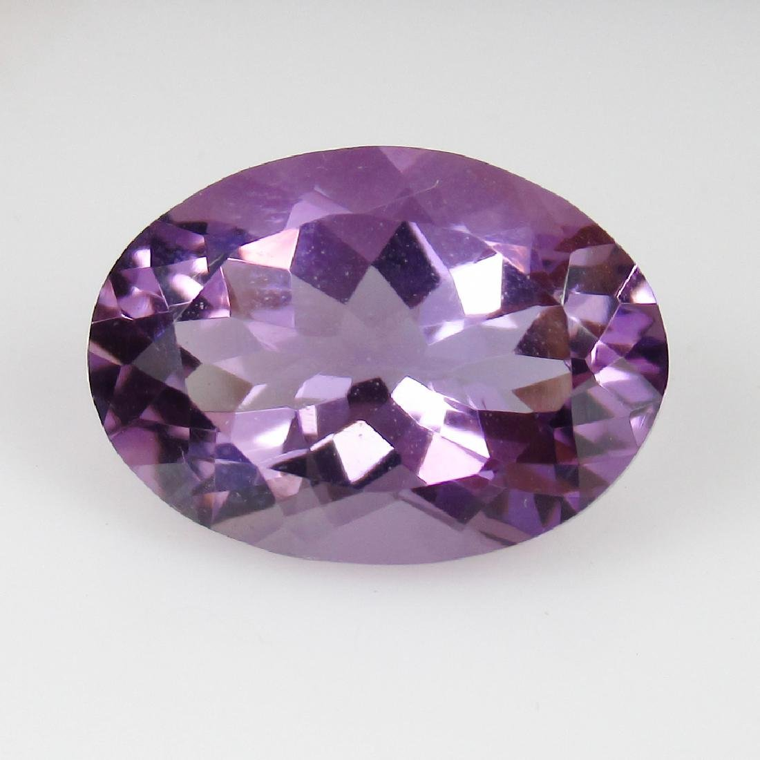 5.21 Ctw Natural Purple Amethyst Excellent Oval Cut