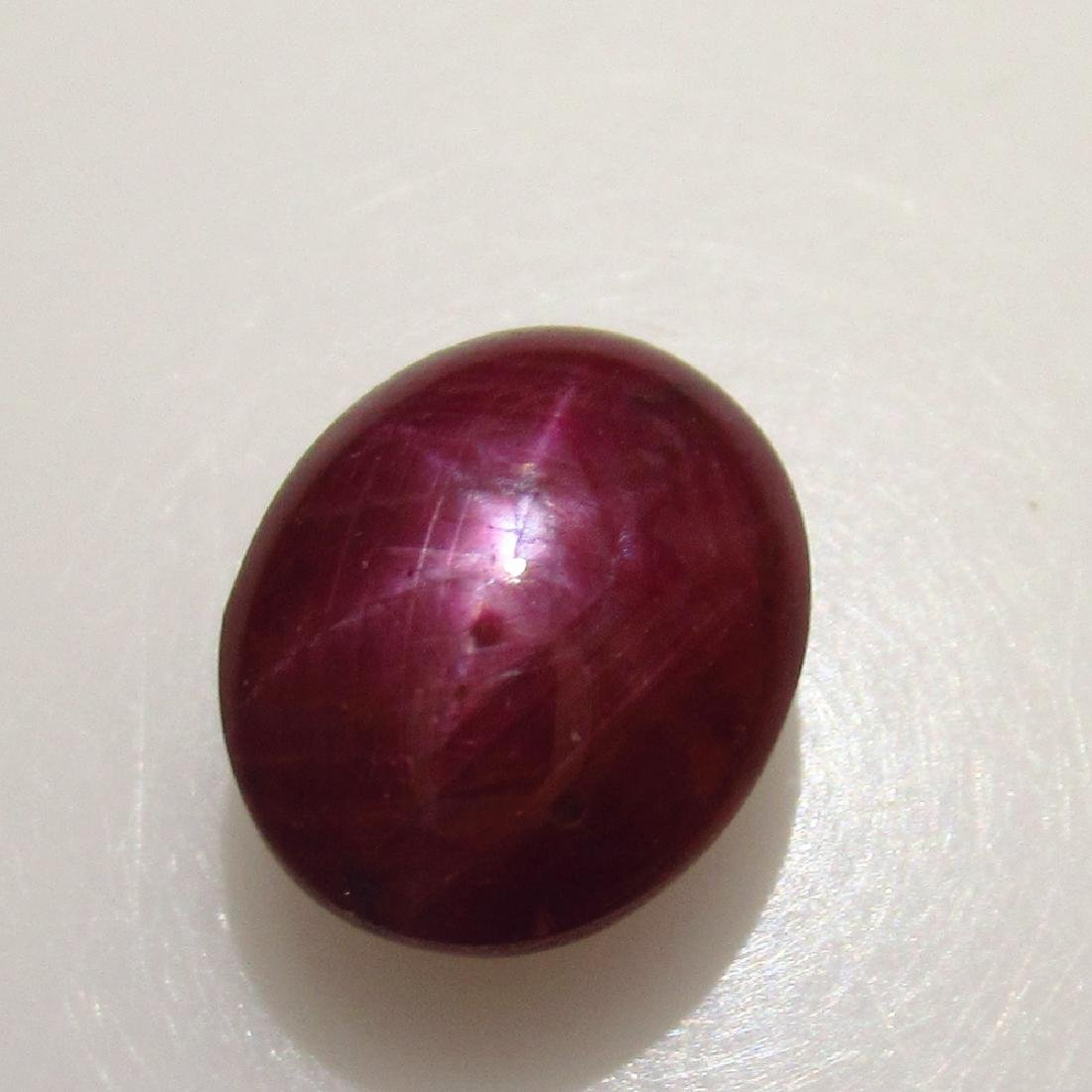 3.30 Ctw Natural Deep Red Star Ruby 8.5X7 mm Oval - 2