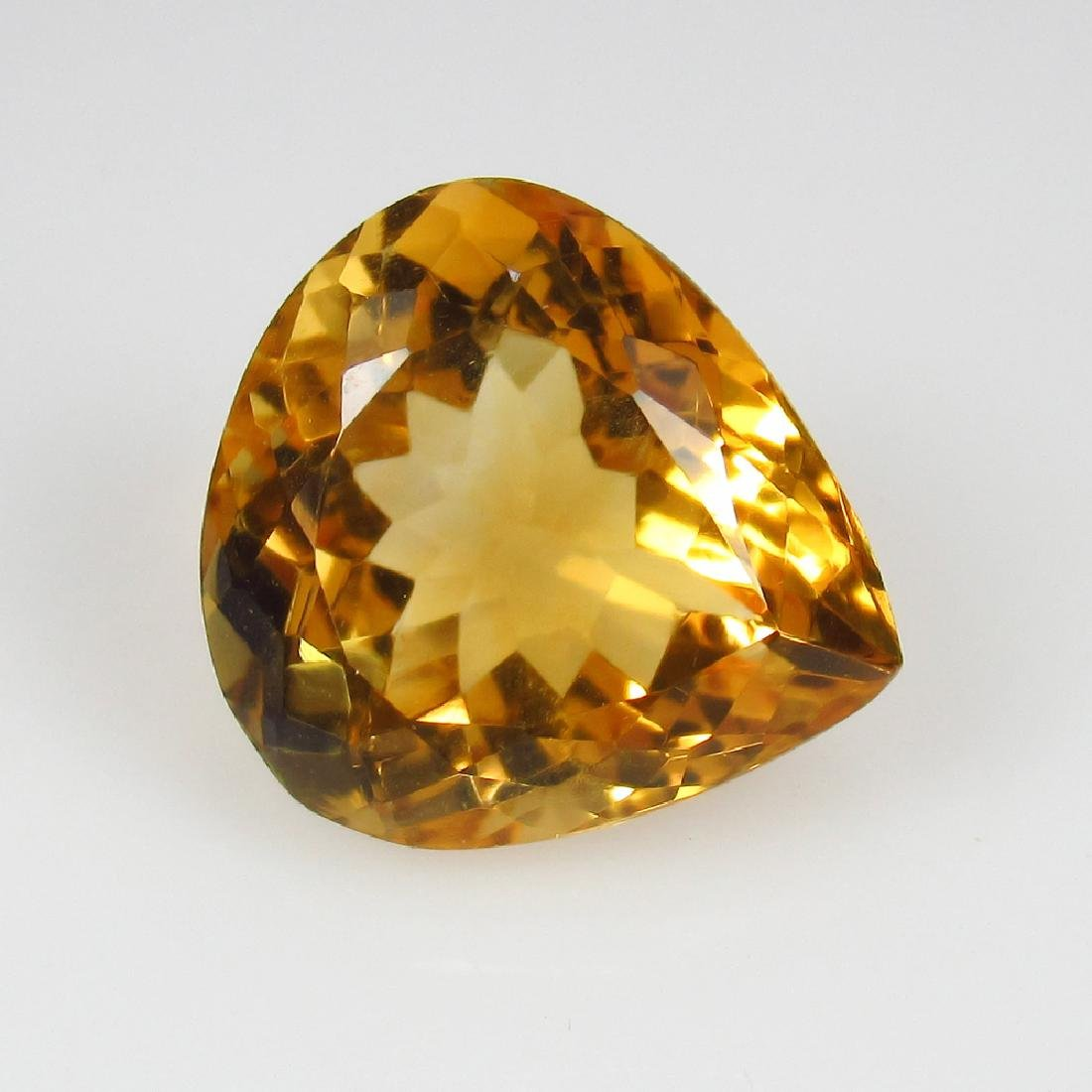 5.47 Ctw Natural Citrine 12.5X11.5 mm Excellent Pear