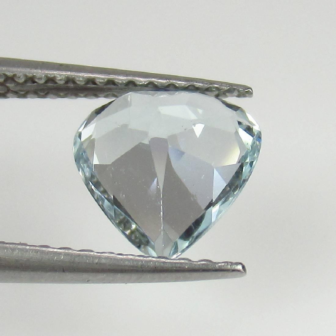 1.38 Ctw Natural Loose Aquamarine Excellent Heart cut - 2