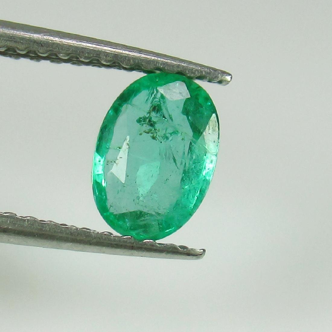 0.62 Ctw Natural Zambian Emerald Nice Oval Cut