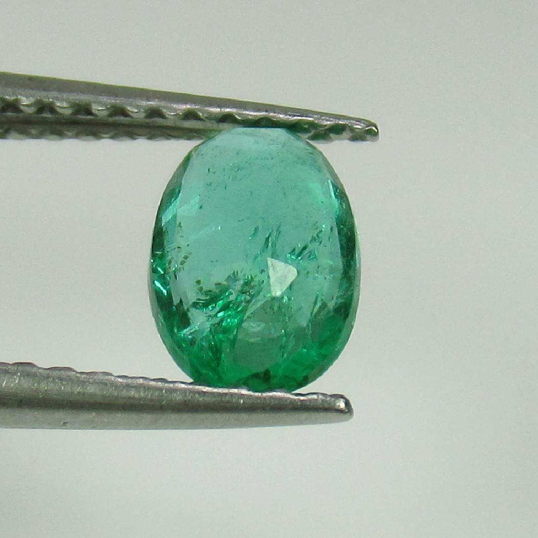 0.62 Ctw Natural Zambian Emerald Nice Oval Cut - 2