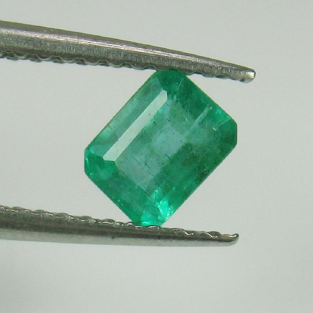 0.57 Ctw Natural Zambian Emerald 5X4 mm Octagon cut