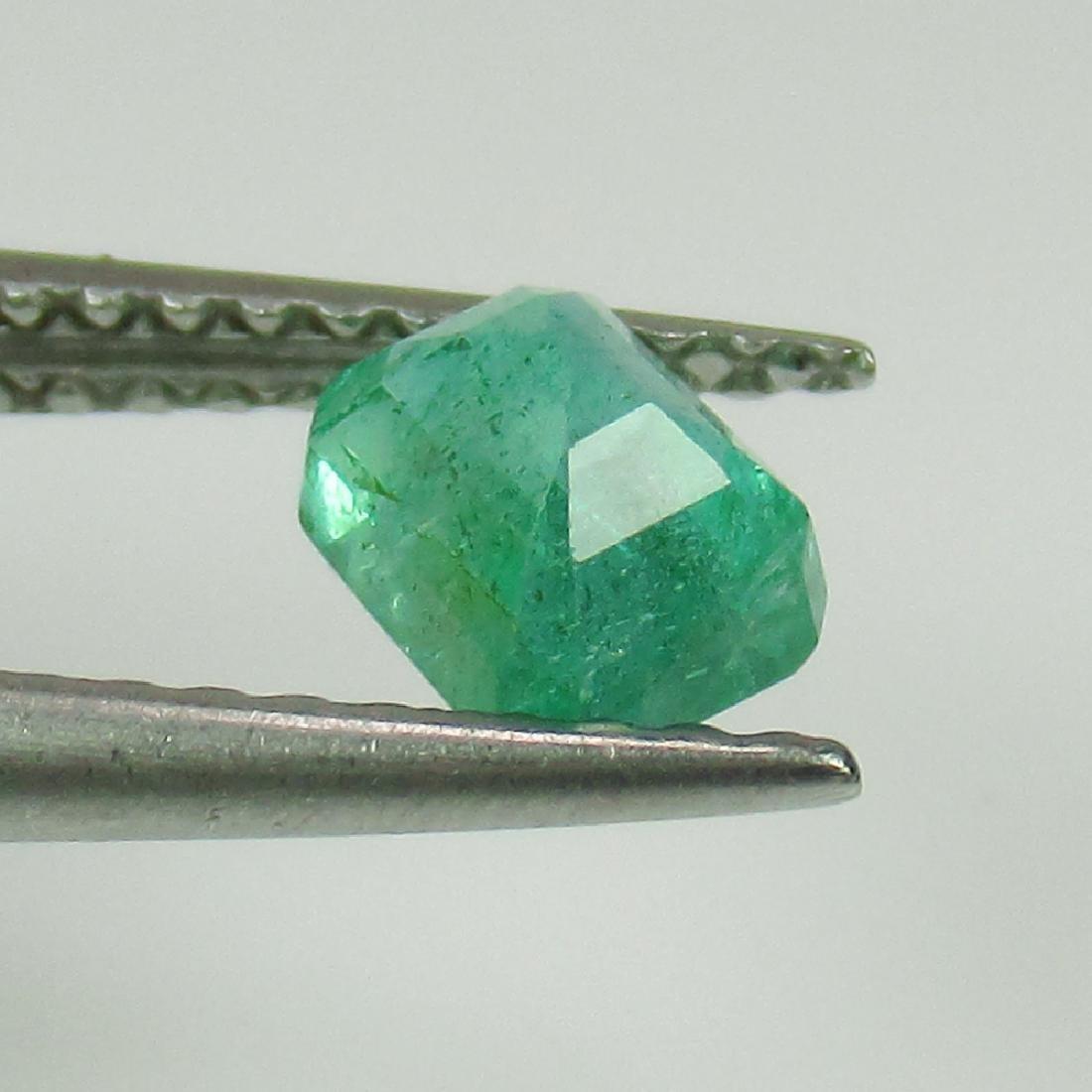 0.57 Ctw Natural Zambian Emerald 5X4 mm Octagon cut - 2
