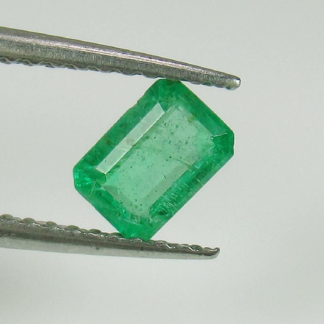 0.57 Ctw Natural Zambian Emerald 5.5X4 mm Octagon cut