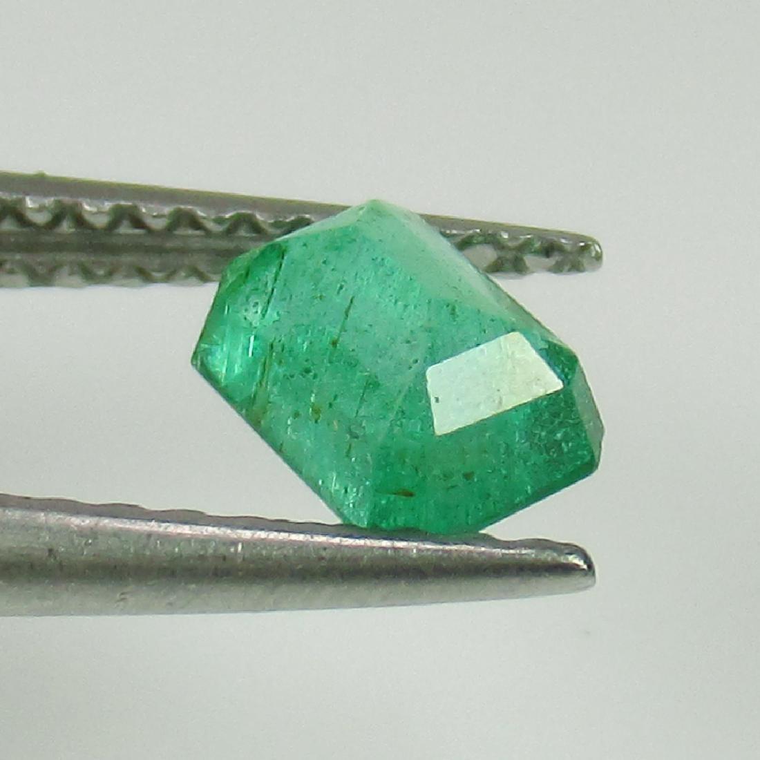 0.57 Ctw Natural Zambian Emerald 5.5X4 mm Octagon cut - 2