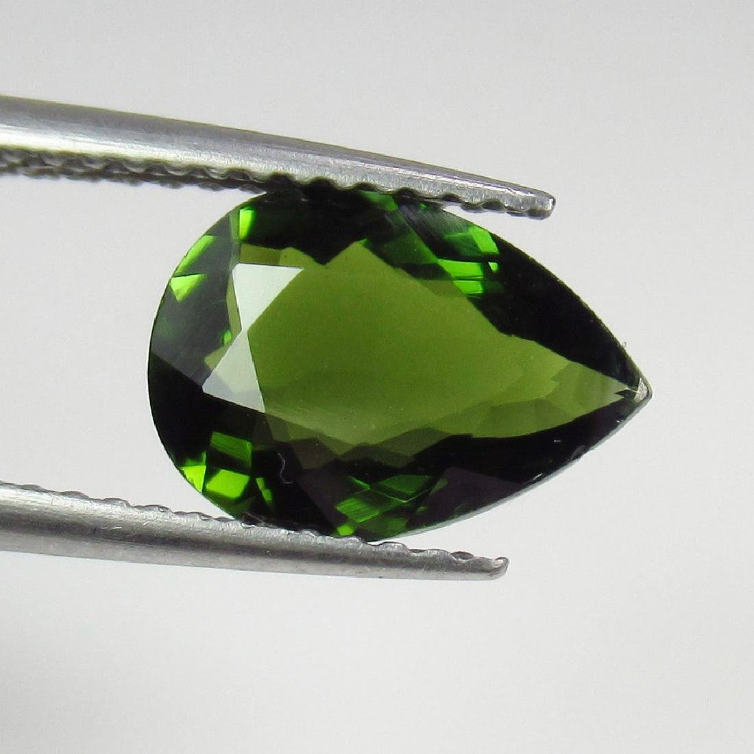 1.64 Ctw Natural Loose Green Tourmaline Excellent Pear