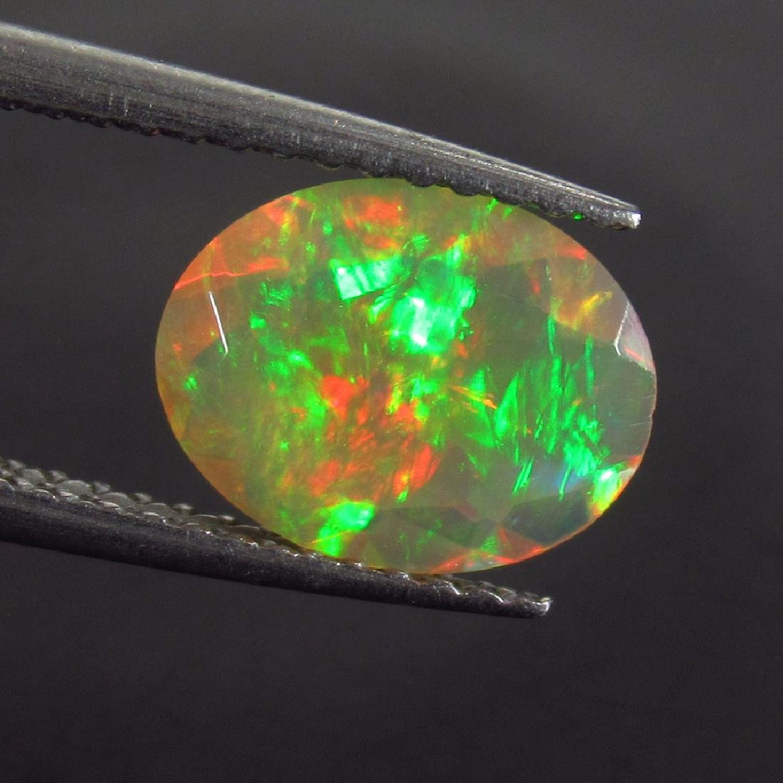 1.00 Ctw Natural Ethiopian Faceted Opal 9.5X7.5 mm Oval