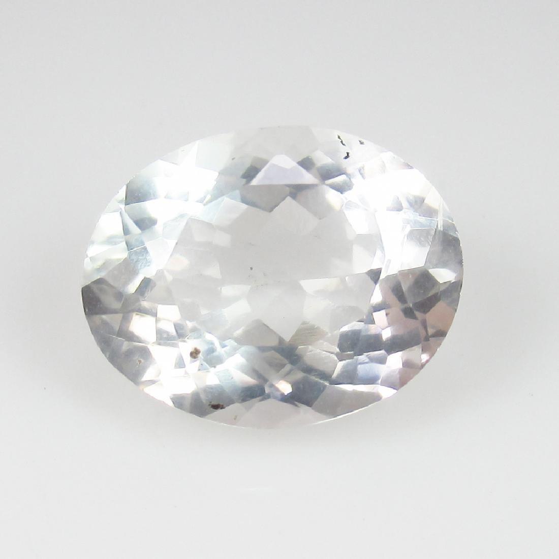 4.73 Ctw Natural Loose Rock Crystal Nice Oval Cut
