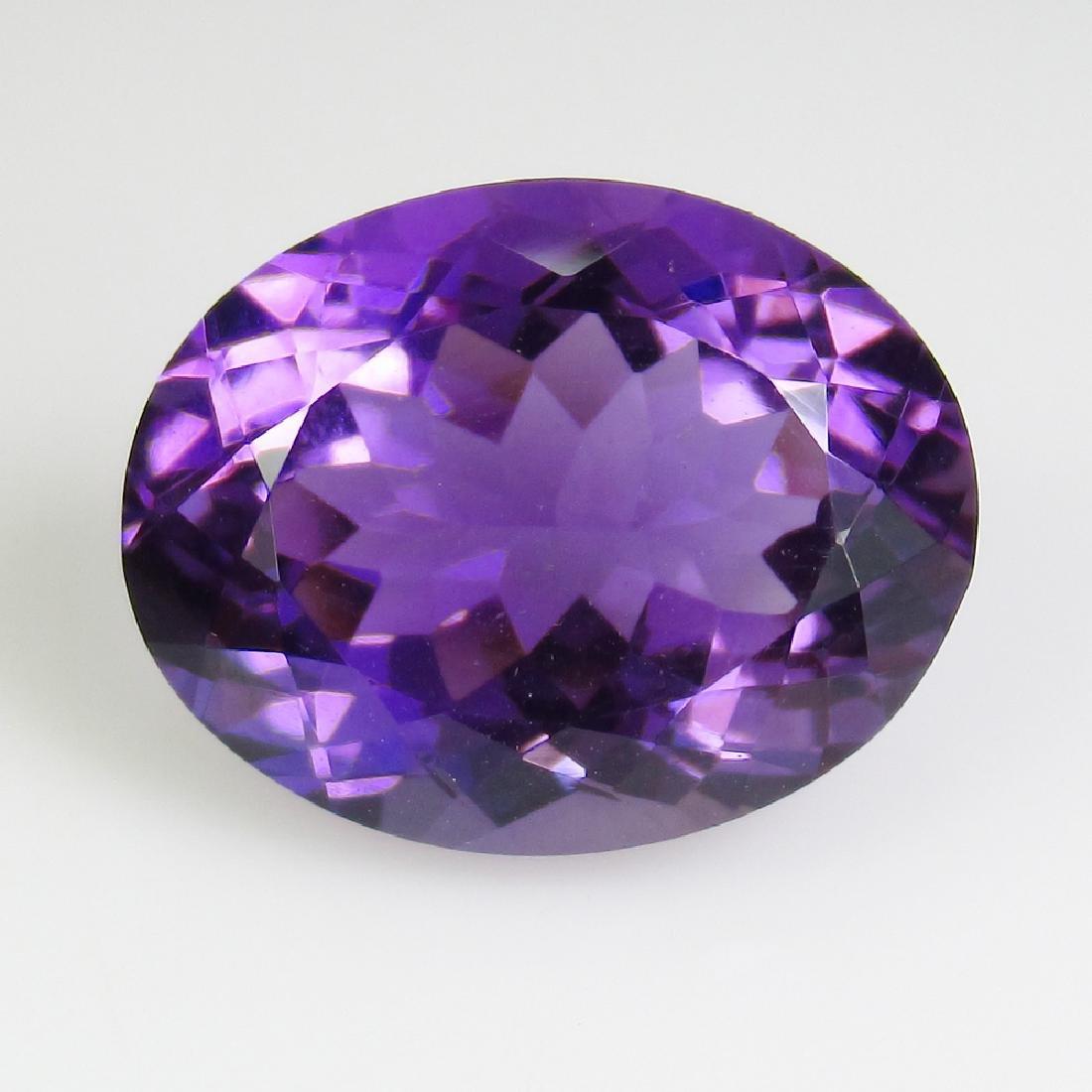 9.59 Ctw Natural Purple Amethyst Nice Oval Cut
