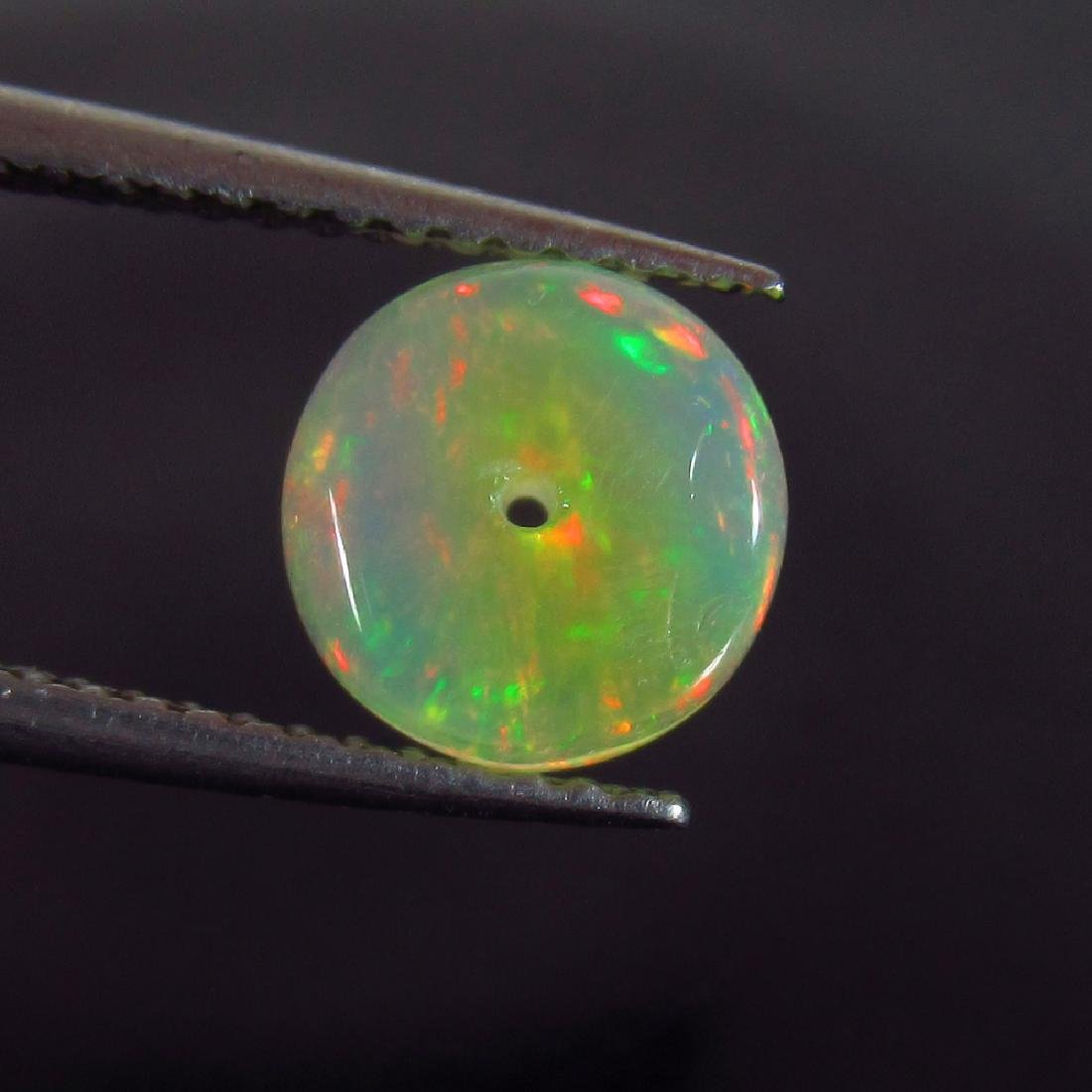 1.26 Ctw Natural Drilled Ethiopian Fire Opal Beads 8X8