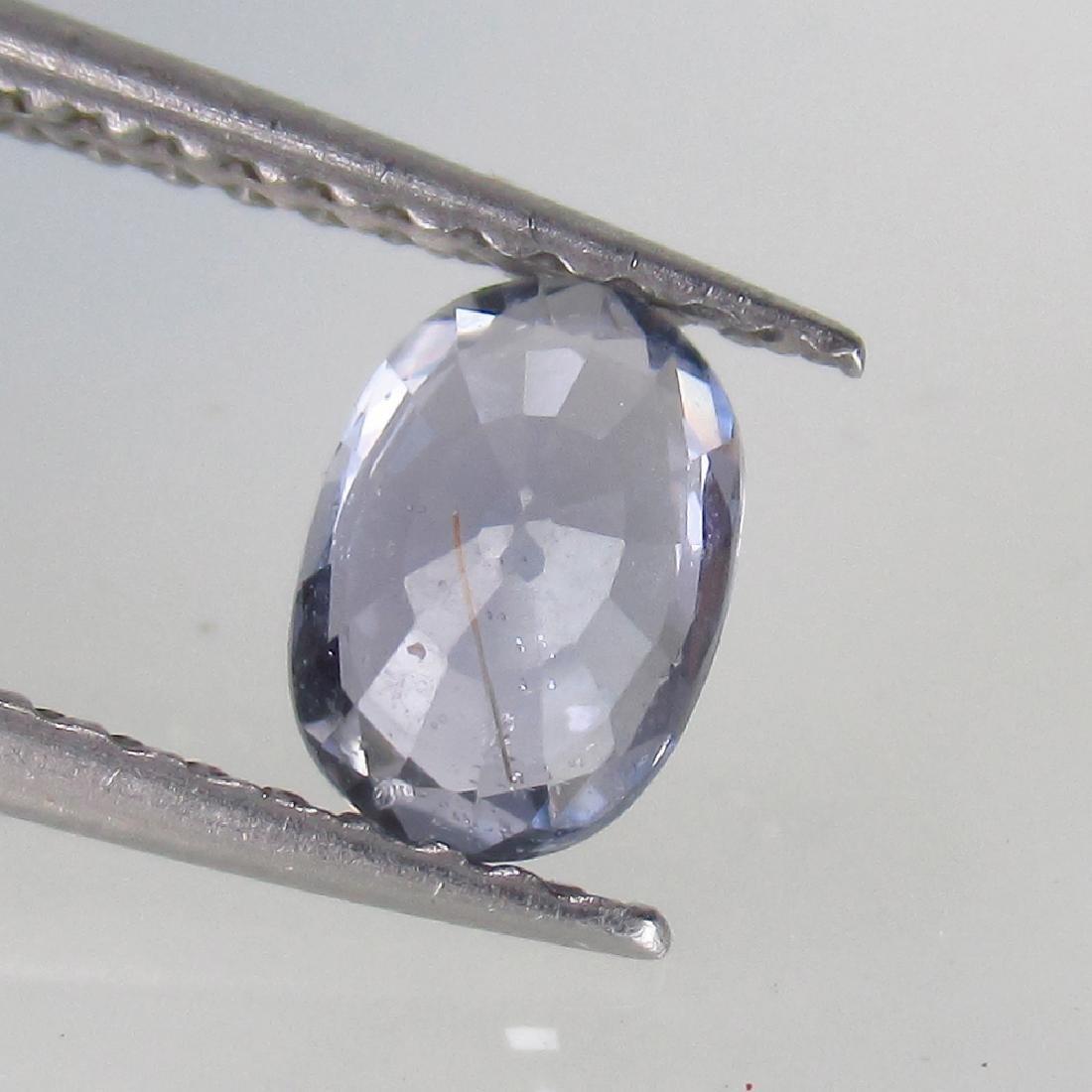 0.73 Ct Genuine Ceylon Light Blue Sapphire Oval cut - 2