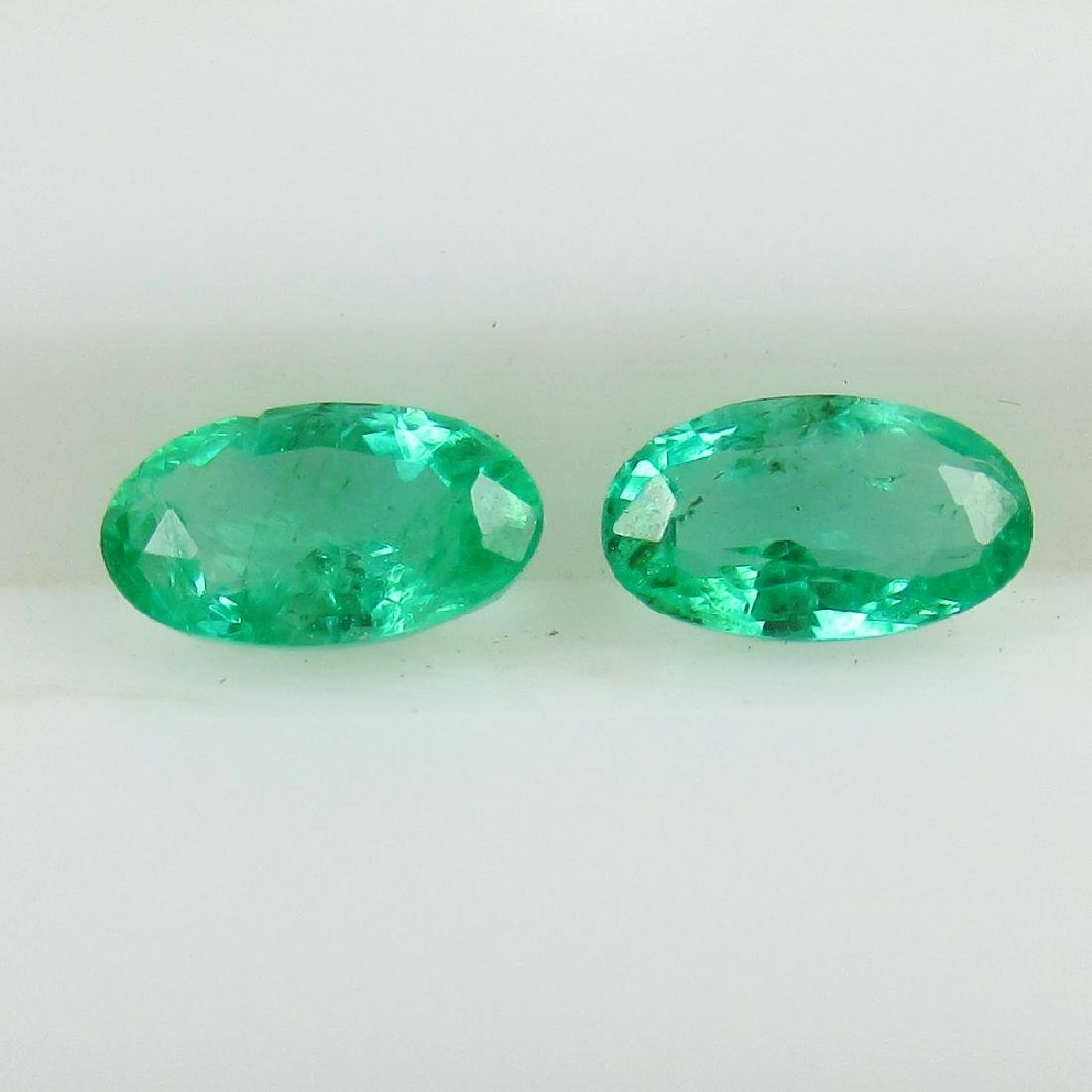 0.43 Ct Genuine Loose Zambian Emerald 5X3 mm Oval Pair