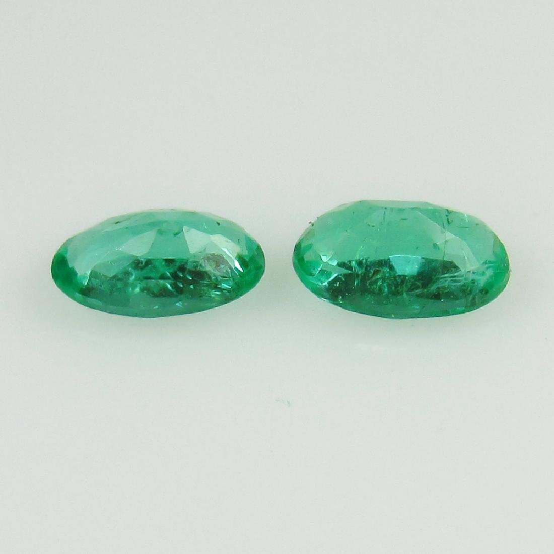 0.43 Ct Genuine Loose Zambian Emerald 5X3 mm Oval Pair - 2