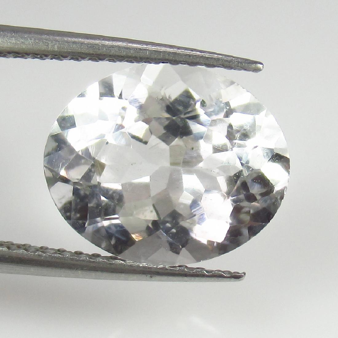 5.15 Ct Genuine Loose Rock Crystal Nice Oval Cut